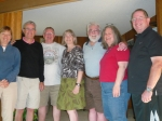 Ann Bristol Willis, Vance Hays, Jim Larson, Alison Foley Young, Bruce and Becky Fish and Jim Howard