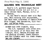 Golfers and Batmen win May 9, 1966