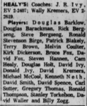 Healy's Roster 1962