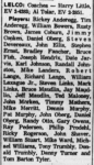 LELCO League Rosters 1962