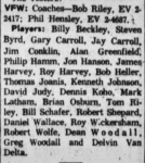 VFW Roster 1962